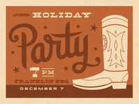 nFusion 2012 Holiday Party Invite
