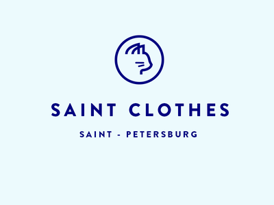 Saint Clothes  minimalism clothes geometry cat animals blue logotypes