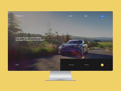 Tesla  minimalism future website web clean minimal ux ui tesla auto concept