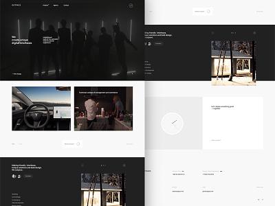 Outpace agency interface ux ui future web website promo minimal clear digital studio agency