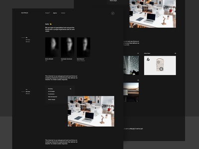 Outpace agency black clean interface ux ui future website promo minimalism clear digital agency
