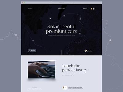 Passion. Rent car app interface design interface website banner website automobile rent rentcar car clean future ux ui minimalism