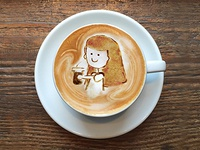 Latte Art as digital content