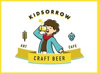Kidsorrow, logo design for a bar