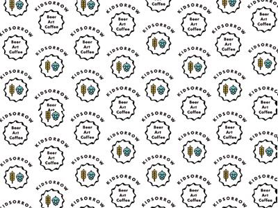 Kidsorrow, pattern design for a bar illustration brand cis logo
