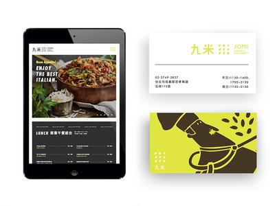 Jomi VI website business card name card ci logo design vi