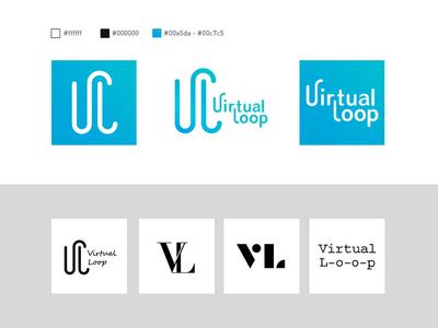 Virtual Loop vi ci logo design