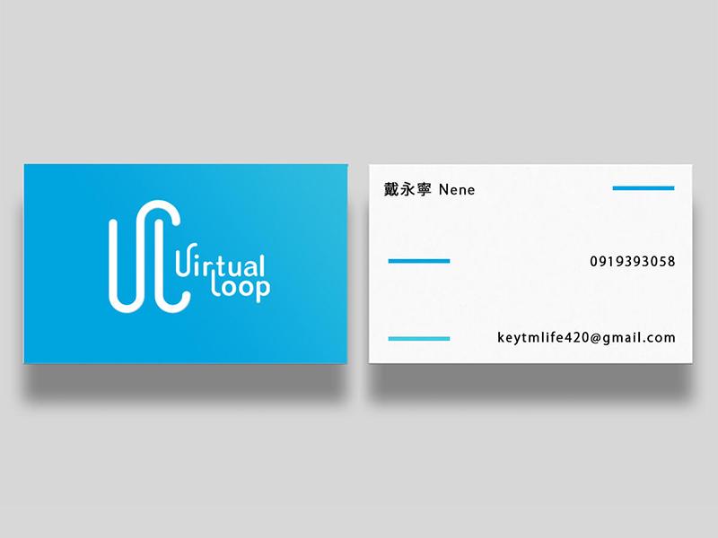 Virtual Loop - name card namecard vi ci logo design