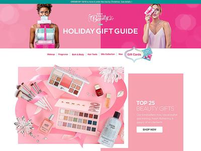 Ulta gift guide animation shooting direction art direction photography responsive web design