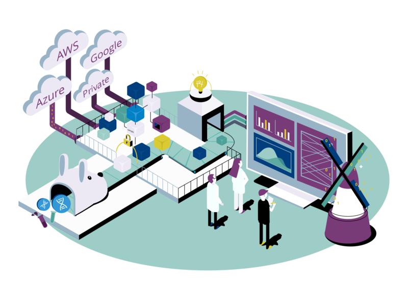 Data Flow of Gen3 data infographic infographic illustration tech tech design illustration