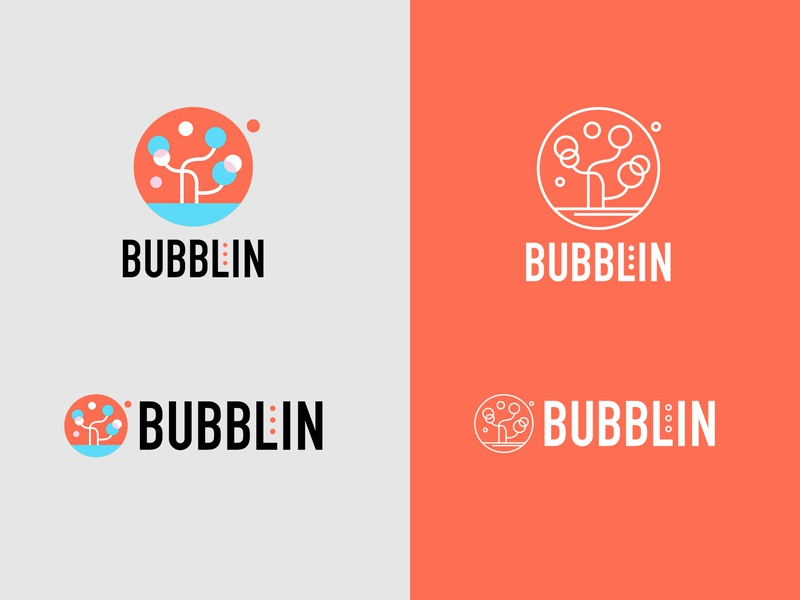 bubblin soap color branding logo