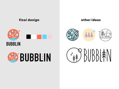 bubblin soap branding logo illustration