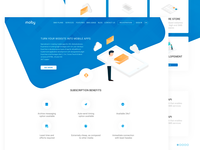 Design landing page moby