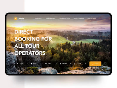 The website of the travel Agency Creon