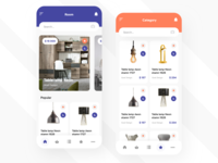 Mobile application for the sale of furniture