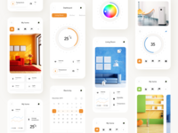 Smart home app all screens