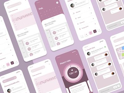 Health app. userinterface digitalproduct builtforhumans humancentereddesign productdesign uiuxinspiration uxdesign colors uiux healthapp