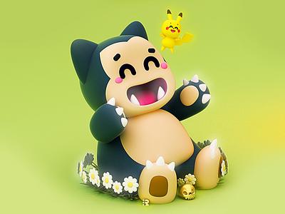 Snorlax y Pikachu ⚡️ pikachu y snorlax pokemon go pokemones pokemon snorlax pika pikachu