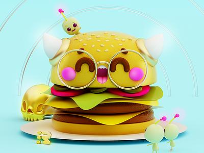 Burguer 🍔 ham whopper carne meet horns bots nano aliens burguer hamburguesa