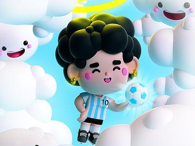 AD10S Diego ⚽️✨ goat best player cielo sky game fútbol pelusa cebollita diego armando maradona