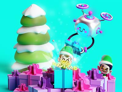 Happy holidays 🎅🏼 duende navideño duendes robot regalos celebración navidad elfos elf gifts christmas
