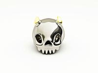 Horns in a skull