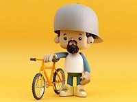 Persona con bici 🚲