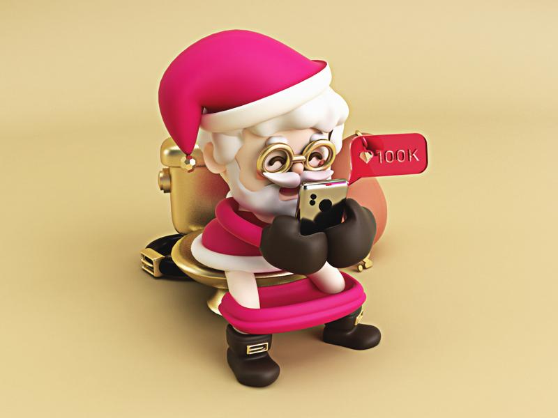 Breve descanso 🎅🏼💩 gold popo poop christmas navidad noel papanoel santaclaus 3d 3dart c4d cinema4d