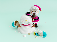 Santa Claus, snowman and elfs!! 🎅🏼☃️🙌🏽