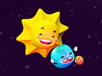 Sol, tierra y súper luna.