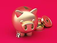Golden pig 🐖