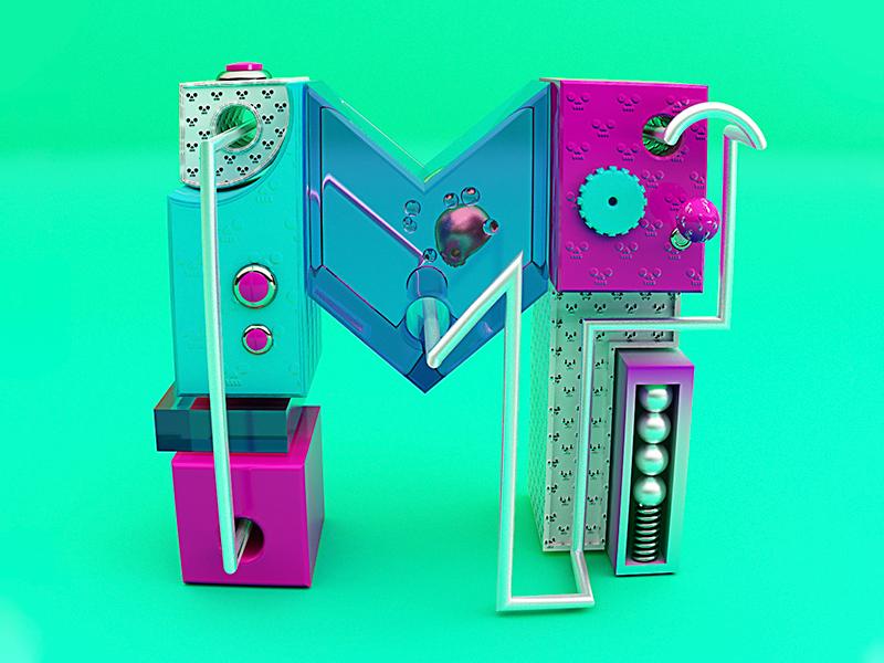 """Letter """"M"""" 3dillustration 3dart 3d illustration3d 36days m 36days-m 36daysoftype illustration"""