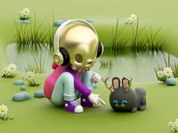 Conejo del Mictlán 🖤🐰