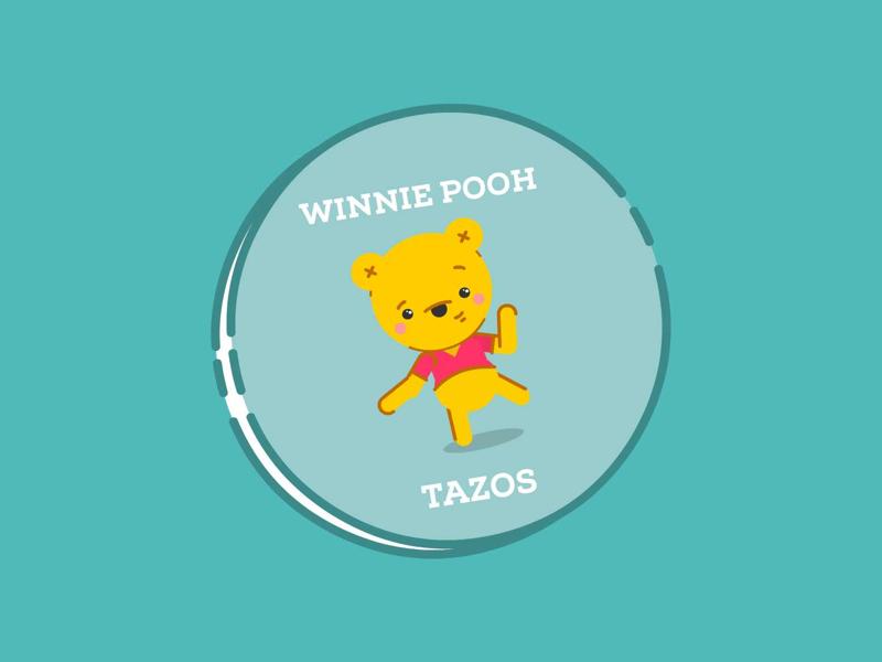 Pooh-Tazos winnie the pooh bear oso osito papas sabritas tazos winnie pooh winniepooh pooh