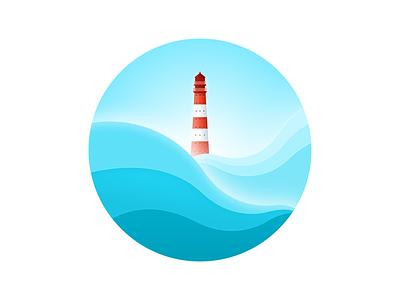Light House ocean lighthouse illustration sketch icon