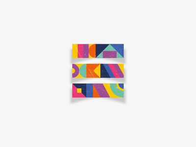 Colofoul E shadow pattern colors shapes lettering letter illustrator e 36daysoftype 36days-e