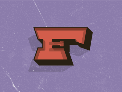 F, bold and heavy wood letter shadow bold lettering letter illustrator f 36daysoftype 36days-f