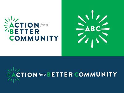 ABC Brand Identity action logos brand community non-profit