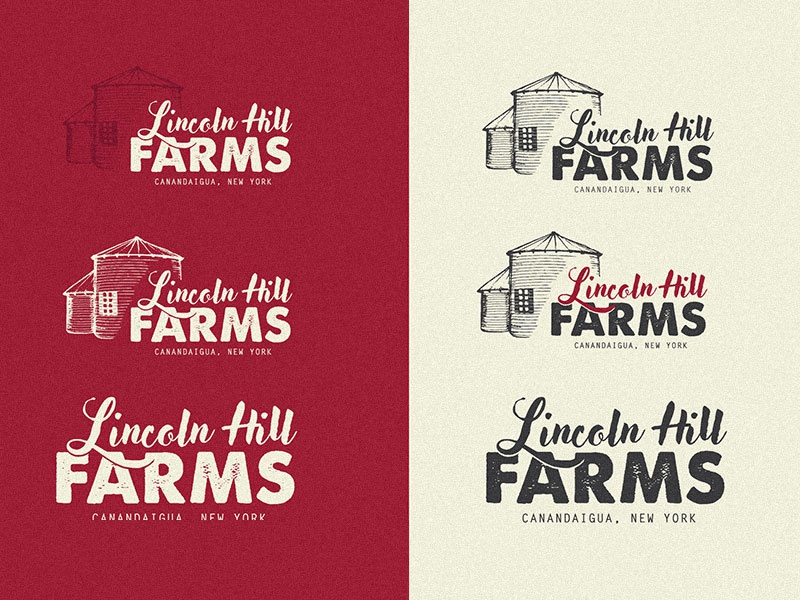 Lincoln Hill Farms Brand brand beer craft farm logo