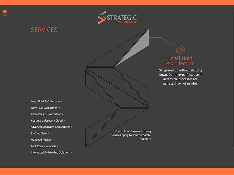 Strategic Legal Services Page ui web design managed review ediscovery
