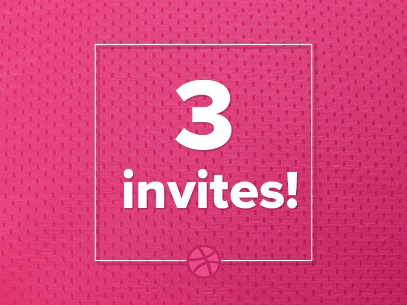 3 Dribbble Invites ux ui invites invitation illustration graphic giveaway dribbble draft design invite