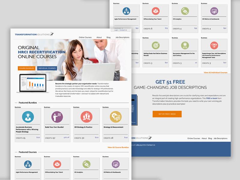 Transformation Solutions illustration icons vector web. website landing homepage flat