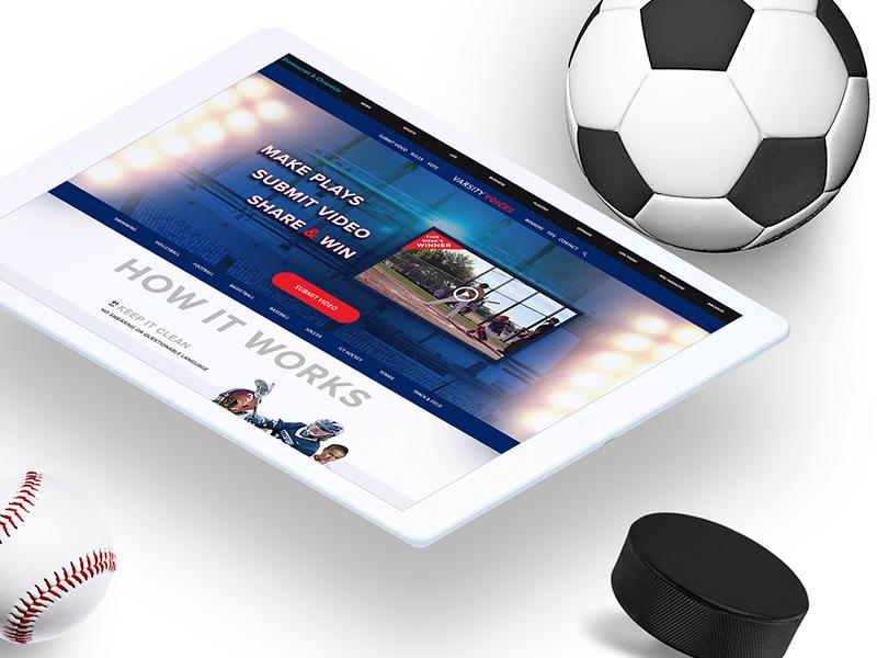 Varsity Voices Case Study sports case-study illustration mock-up web