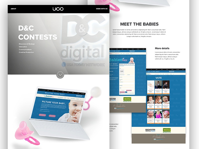 new UCO site Case Study case study clean portfolio mock-up design web