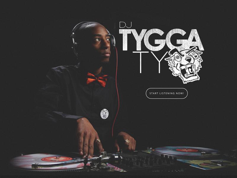 DJ Tyga Ty homepage ux web rochester brand design identity branding