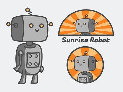H3LiOS the Robot orange gray cartoon retrofuturism flat illustrator vector robot mascot podcast logo