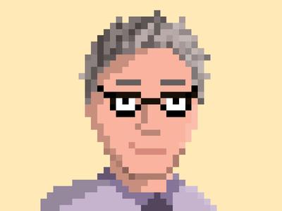 David Pixel Portrait retro lofi photoshop portrait pixel