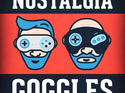 Nostalgia Goggles Portrait retro genesis snes gaming vector