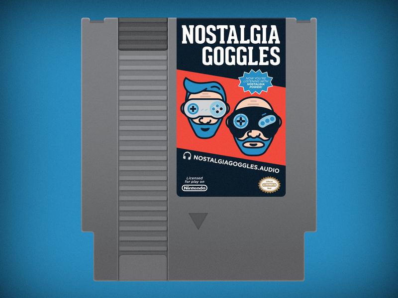 Nostalgia Goggles NES Cartridge videogames retro games vector flat cartridge nintendo nes podcast nostalgiagoggles