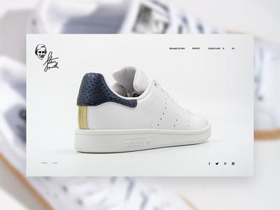 Concept Adidas Stan Smtih Website